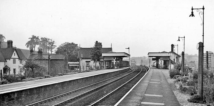 Beeston Castle & Tarporley Station - pic by Ben Brookshank, creative commons licence, 1961