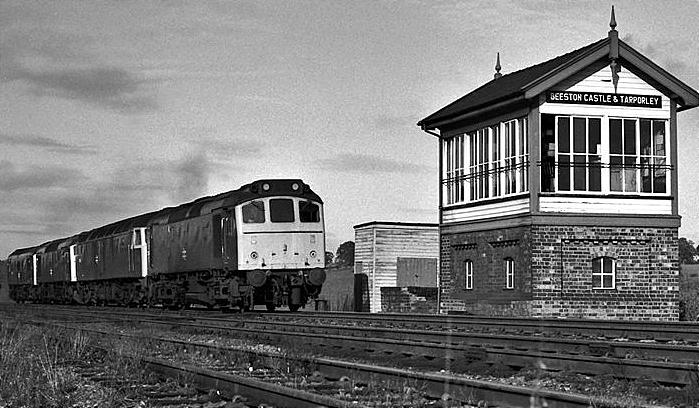 Beeston Castle and Tarporley station signal box pic by David Ingham