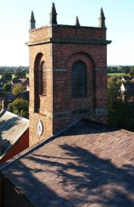 Bell tower of St Mary's church in Wistaston