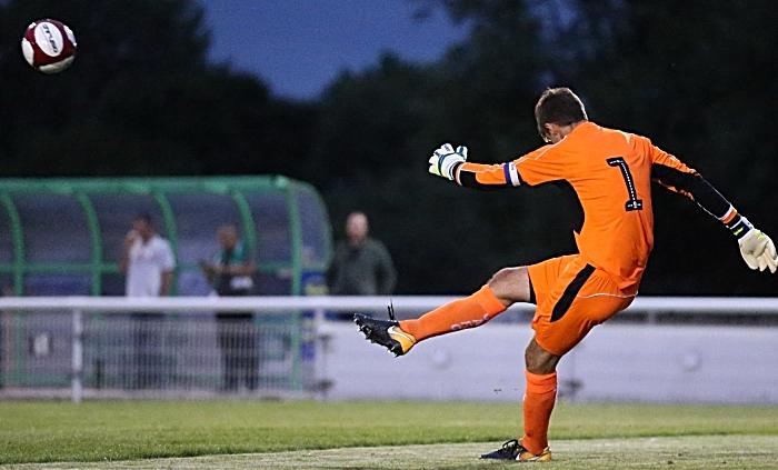 Ben Garratt clears the ball for Crewe Alex