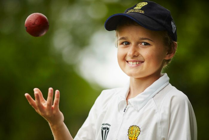 Pupil at Sound and District Primary School in Nantwich Chesire, Ben Wright has a place with the under 11 County Cricket Cheshire