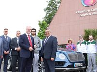 South Cheshire motor apprentices get hands on Bentley's top hybrid car