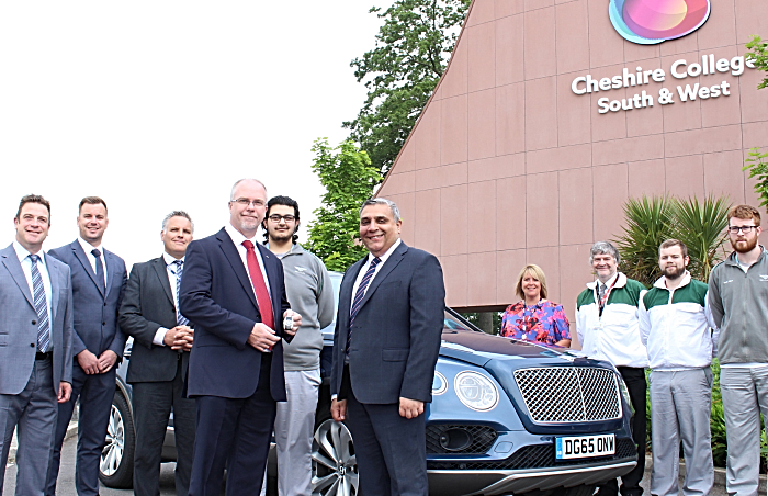 Bentley Hybrid car at Cheshire College