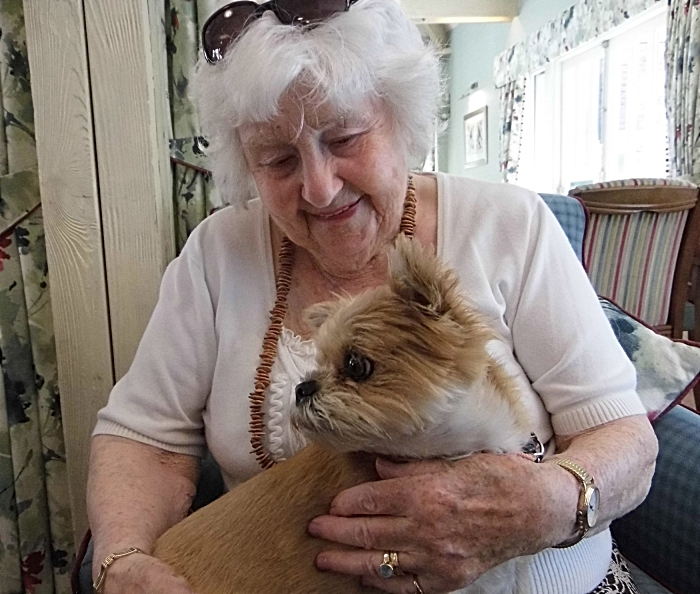 Dog - Beryl Tromans and 'lap dog' Amber