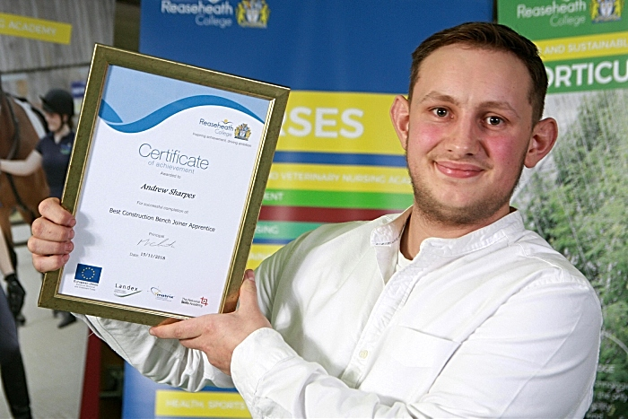 Best apprentice bench joiner Andrew Sharpes (1)