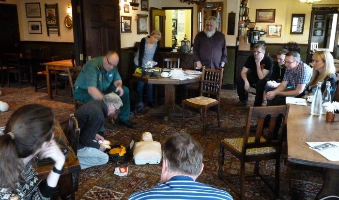 Bhurtpore Inn hosts defib training
