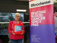 Charity bucket collection held by Bloodwise South Cheshire