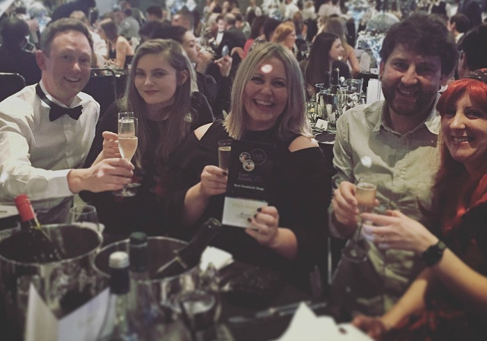 Bloom gold award at chester food and drink awards
