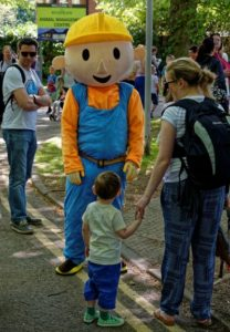 Family Festival - Bob the builder meets a young visitor