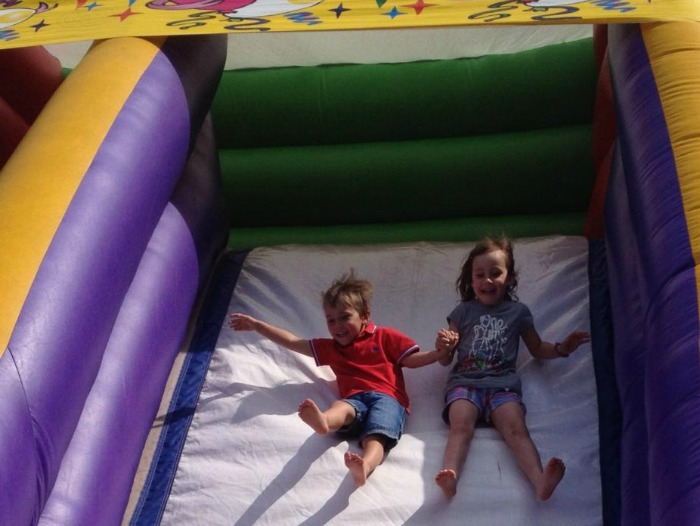 Bouncy slide Worleston Fete