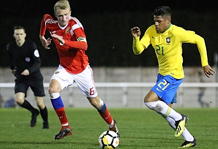Brazil Iago Andrew Pires de Oliveira on the ball