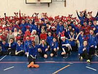 Brine Leas pupils help raise £40,000 in Rudolph Runs hospice event