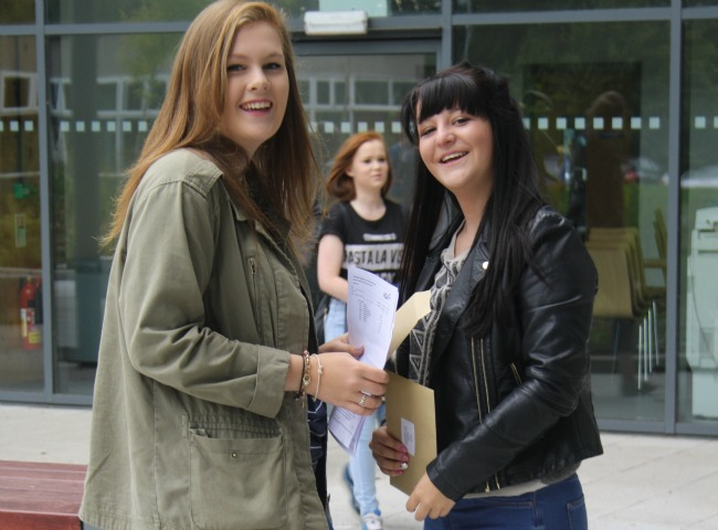 Brine Leas students and their GCSE results