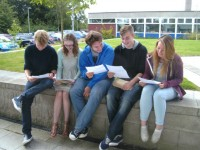 Brine Leas students in Nantwich celebrate amazing A level results