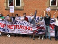 British Airways workers hold protest in Nantwich town centre