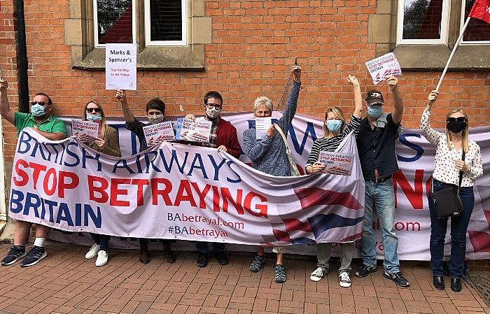 British Airways protest in Crewe
