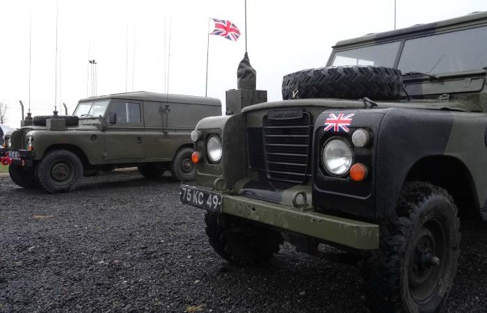 Cold War - British troop military vehicles