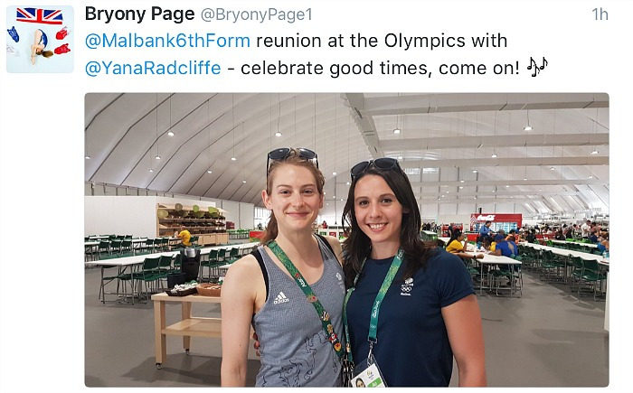 Bryony Page and Yana Radcliffe - Malbank reunion at Rio Olympics