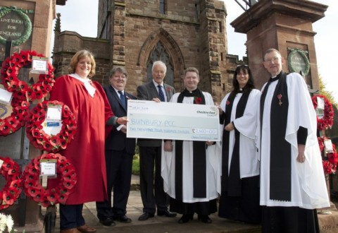 War memorial at Bunbury church given £2,400 boost