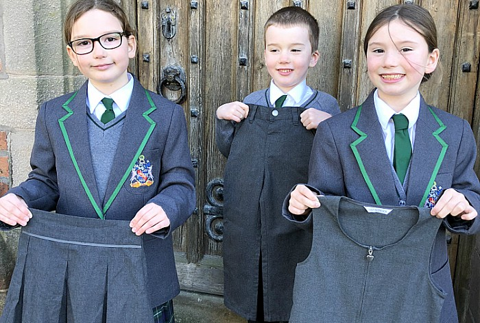 Bunbury youngsters with old uniform for Uganda orphanage