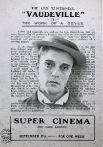 Buster Keaton on the background of a Super Cinema Vaudeville review (1)