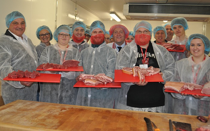 Butchery employers and apprentices at practical demo