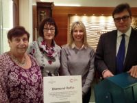 Nantwich jeweller's diamond donation raises £4,000 for Cancer Research