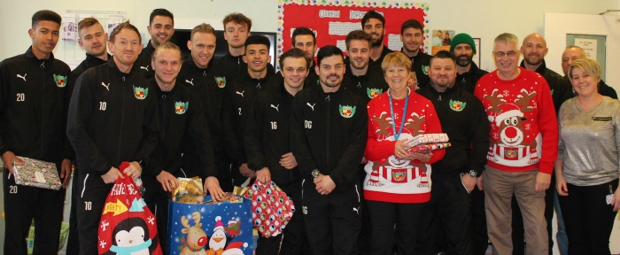 CAU - Nantwich Town Xmas 2015 leighton hospital donations