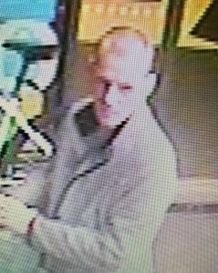 CCTV pic of suspected bike thief, Stapeley Co-op
