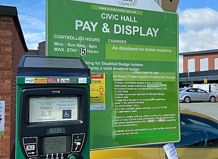 parking - CEC car park -Civic Hall Nantwich - parking charges recommenced on 15th June 2020 (1) (1)