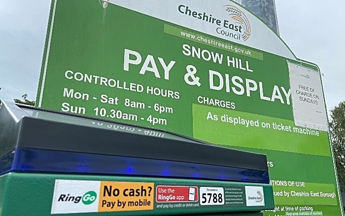 CEC car park -Snow Hill Nantwich - parking charges recommenced on 15th June 2020 (1)