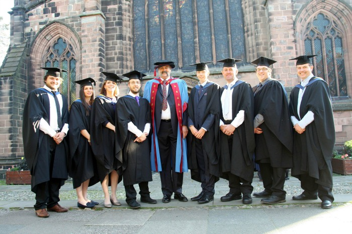 COUNTRYSIDE Conservation & Recreational Man graduates with lecturer Dr Leigh Cawley
