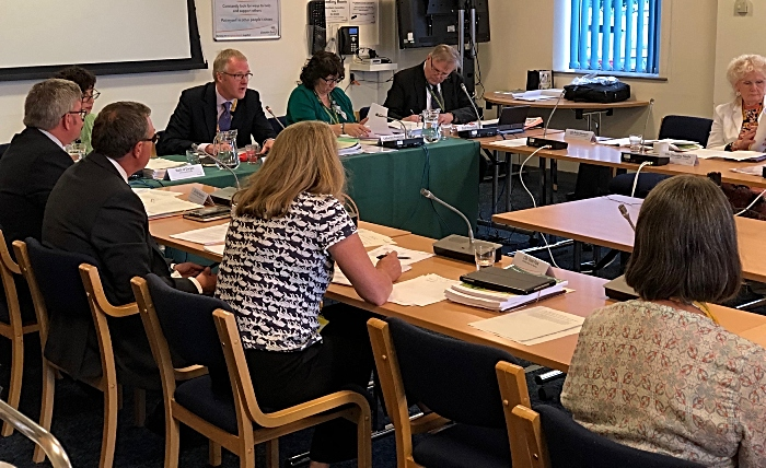 Cabinet leader Cllr Sam Corcoran - transit site