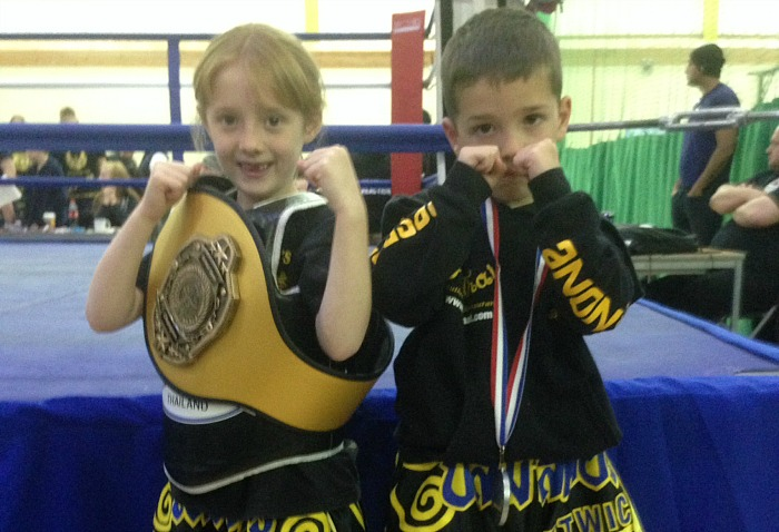 Caleb and Maddie Rowlands, winners for Beastmasters