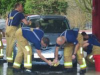Nantwich fire crews to stage car wash to raise charity cash