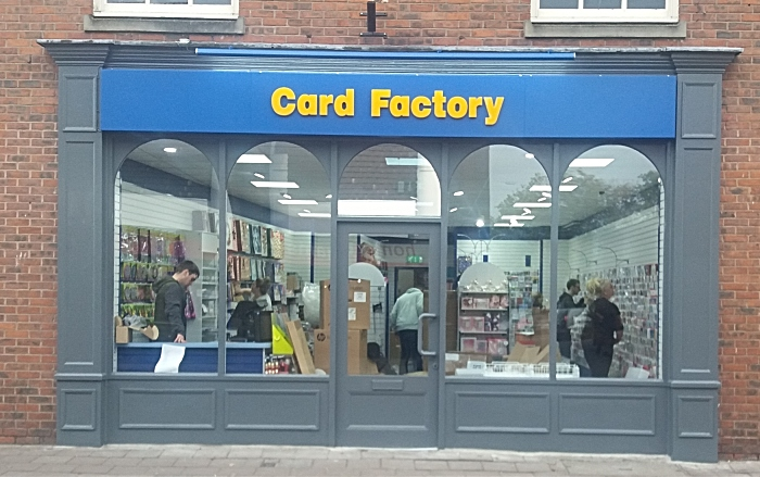 Card Factory in Nantwich - pic by Phil Dodd