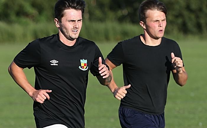 pre-season - Caspar Hughes with Sean Cooke during a run drill (1)