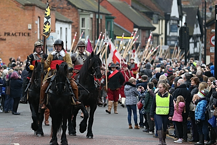 Cavalry-led parade of several hundred Sealed Knot troops along Welsh Row and High Street (1)