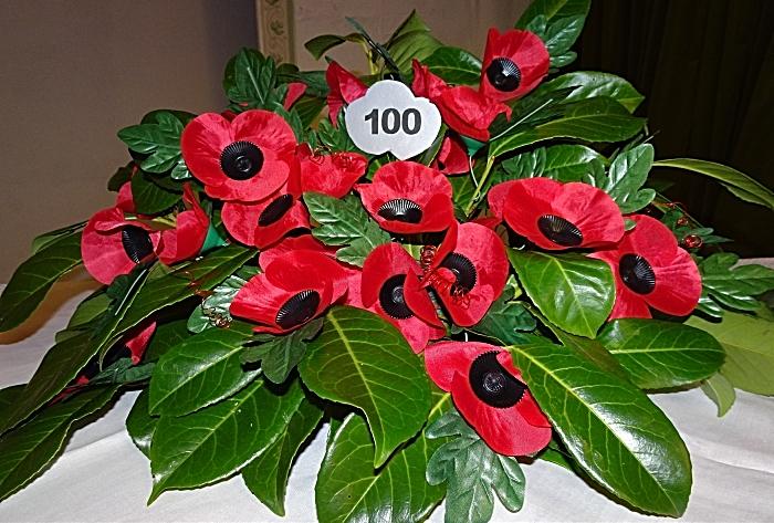 Centenary of the end of World War 1 poppy arrangement (1)