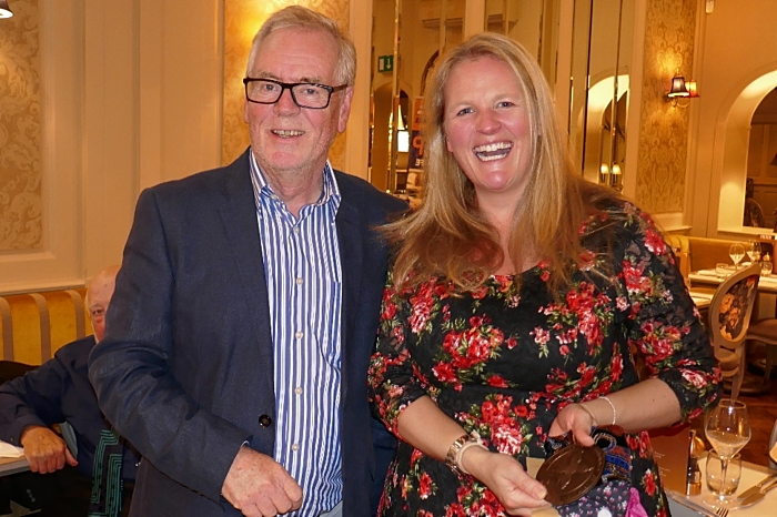 Chair of the Museum Board Nick Dyer with Liz Parkin (1)