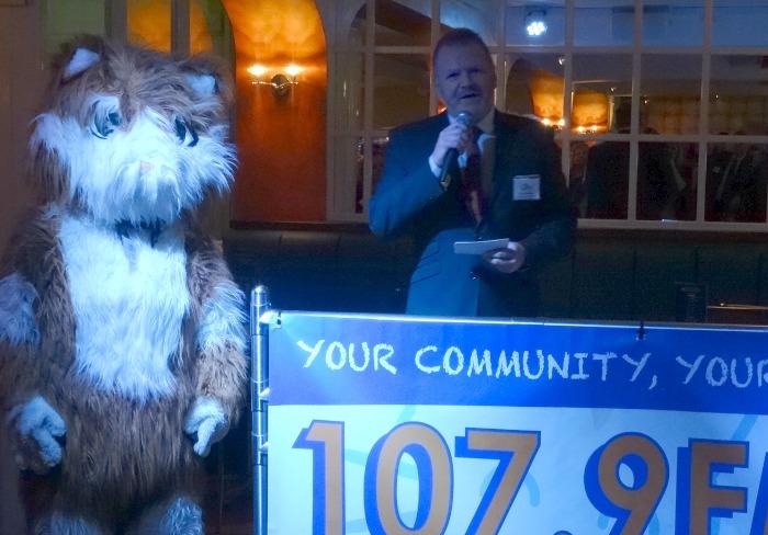 Chairman Chris Radford gives a speech