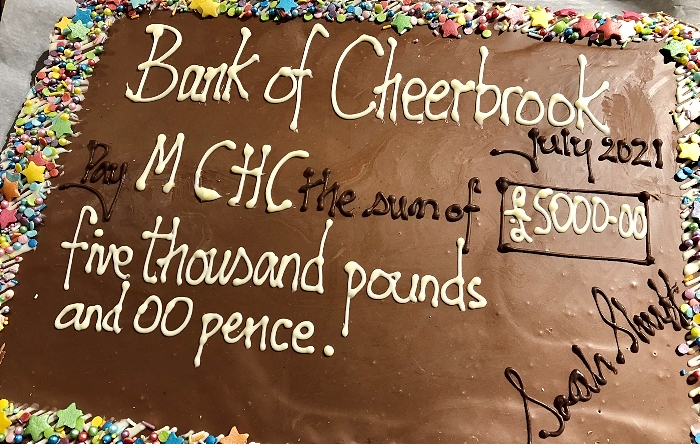 Charity Cheque - cheerbrook