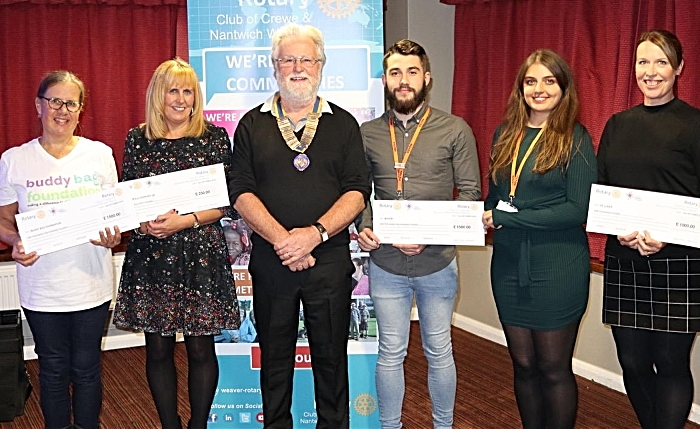 Charity Cheque presentation - rotary clubs