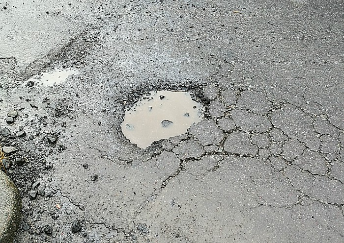 Pothole - Cheerbrook Rd at junction with Wybunbury Rd