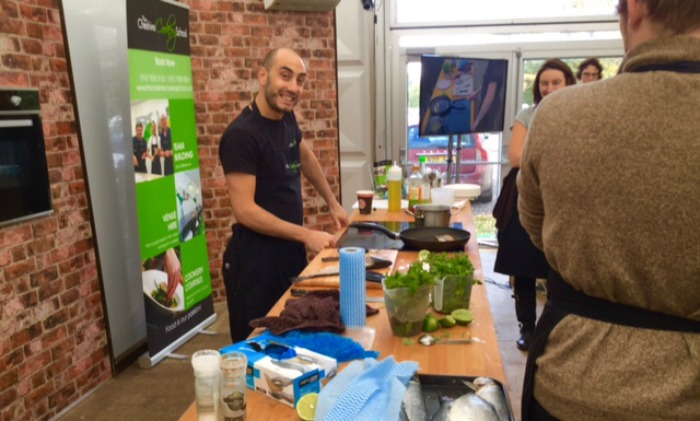 food lover's festival - chef-sam-elliot-from-the-cheshire-cookery-school