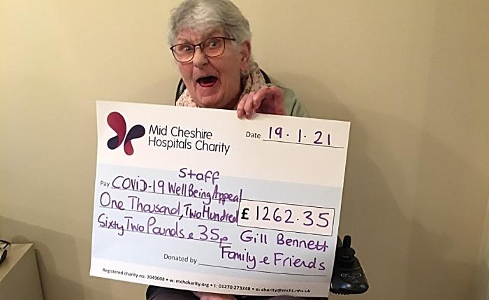 survivor - Cheque presentation - Gill Bennett, Covid fundraiser