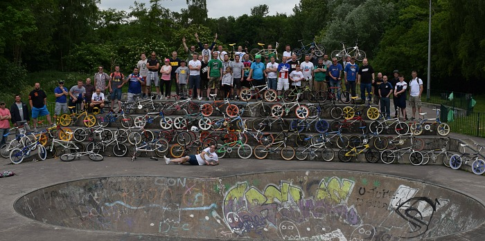 Chesh-Air – old school BMX fans at Tipkinder Park