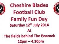 Cheshire Blades FC fun day at Peacock pub, Nantwich