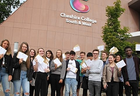 Cheshire College South & West celebrates 99.7% A Level pass rate
