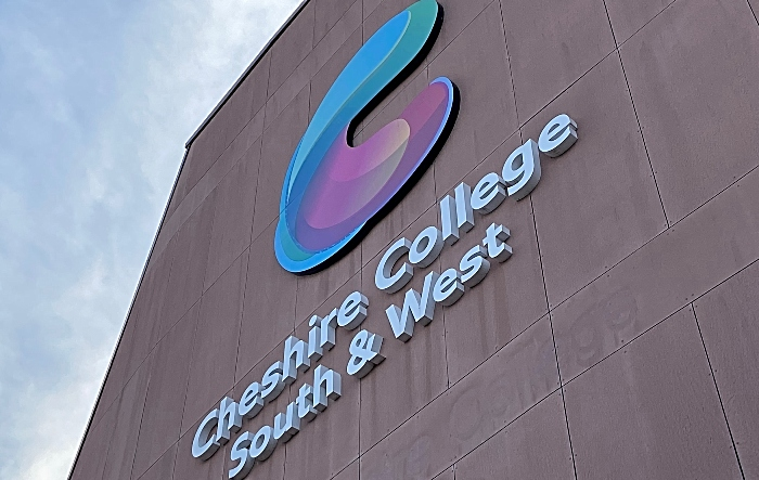 learners - open day Cheshire College - South and West - Crewe Campus -frontage - art exhibition